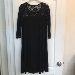 """Host Pick"" Karen Kane Black Lace Dress, Size 1X"